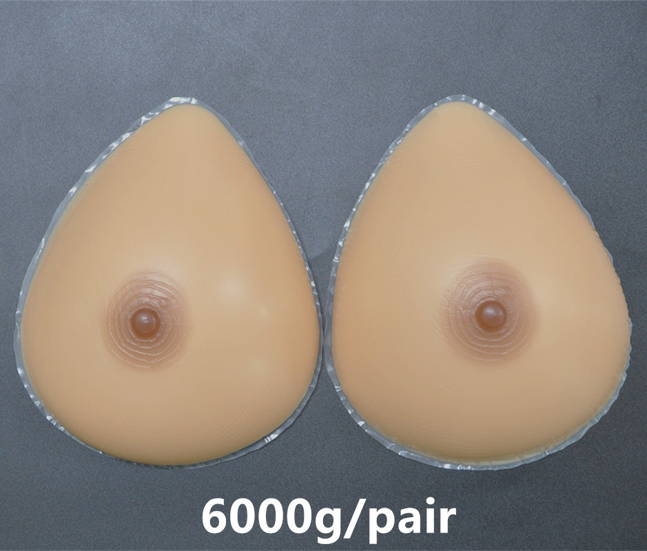 6000g/Pair J K Cup Size Beige Water Drop Realistic Silicone Artificial Breast Forms Huge Boobs Huge Breast For Art Show Costume<br><br>Aliexpress