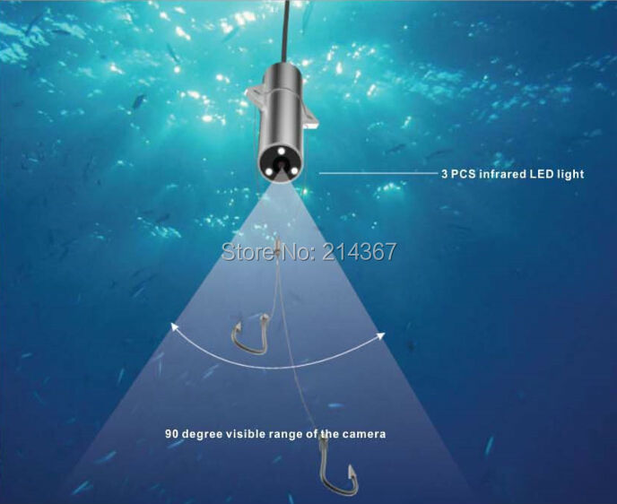 X1A 90 degree Underwater Mini Cameras as Fishing Detector Floating Fishing Lens(China (Mainland))