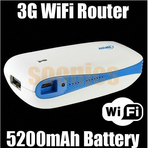 Mini Portable A100 150Mbps WIFI 3G Wireless Router With 5200mAh Mobile Power Bank Free Shipping
