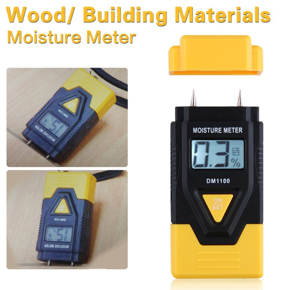 3 In 1 Wood Building Material Soil Digital Moisture Meter Hardened Materials Sawn Timber Thermometer Hygrometer(China (Mainland))