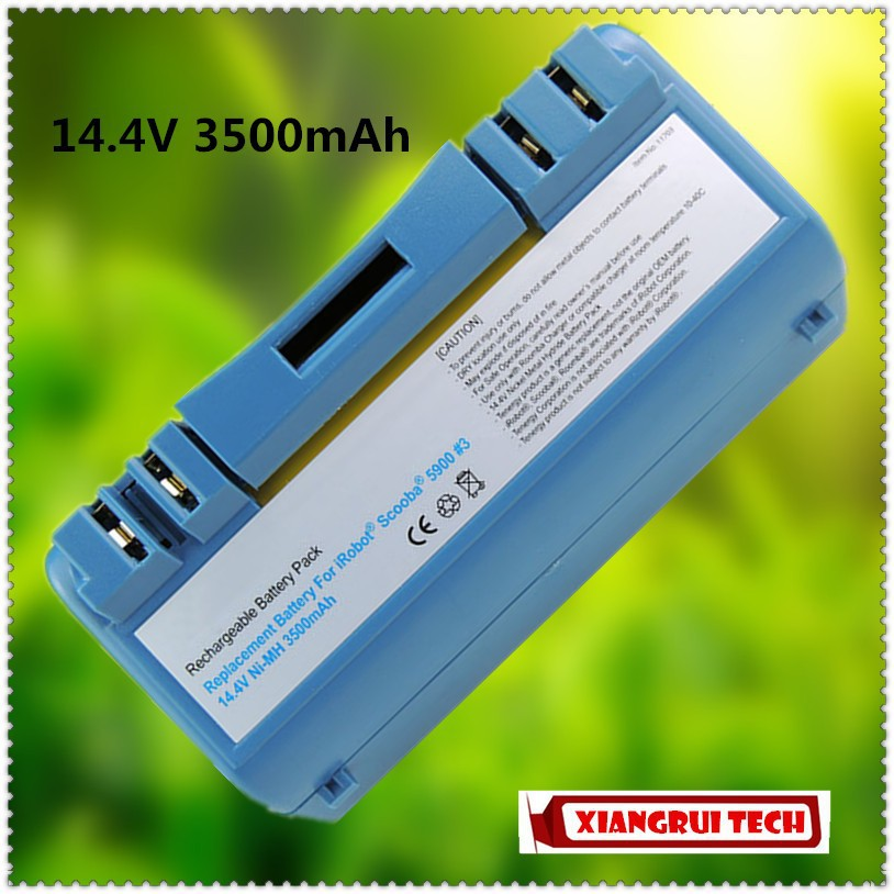 14.4V 3500mAh High Capacity Battery for iRobot SCOOBA 5900 5910 5920 5940 5950 330 350 380 5800 5930 6000 6050(China (Mainland))