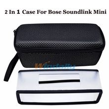 2 In 1 TPU Soft Silicone Case + Eva Storage Case Protective Cover Travel Bag For Bose Soundlink Mini / Mini 2 Bluetooth Speaker(China (Mainland))
