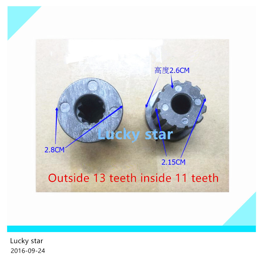 Original washing machine parts Outside 13 teeth inside 11 tooth wheel core(China (Mainland))