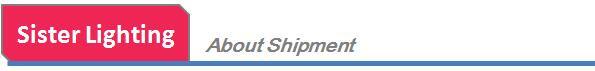 About shippment