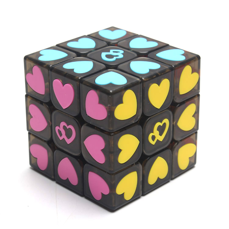 Yj Moyu Magic Cube 3x3x3 LOVE Stickerless Professional Cube 3x3 Cubo Magico Puzzle Speed Cube Learning Toys Puzzles For Children(China (Mainland))