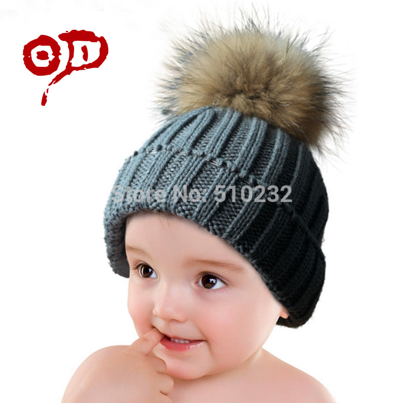 New 2015 Baby Kids Snow Hat Winter Wool Knit Beanie Raccoon Hats For Children Apparel Accessories Fashion Hat Christmas Gift(China (Mainland))