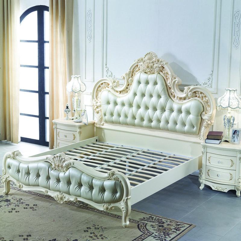 online kaufen gro handel luxus leder bett aus china luxus. Black Bedroom Furniture Sets. Home Design Ideas