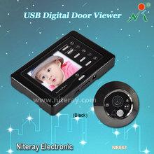 Strong IR Infrared Eye Door Doorbell Peephole Viewer Camera Video Door Viewer With Motion Sensor