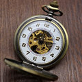 Luxury Hollow Retro Chinese Knot Style Skeleton Hand Wind Mechanical Pocket Watch With White Dial Pendant