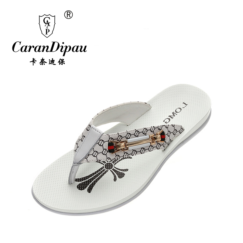 Mens flip flops Genuine leather Slippers Summer fashion beach sandals shoes for men plus size Eur :38-43 pantufa Hot Sell(China (Mainland))
