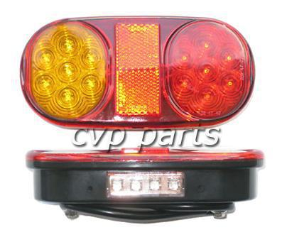 tail LED lights lamp pair boat trailer waterproof submersible 12V trailer parts truck built in Number plate light(China (Mainland))