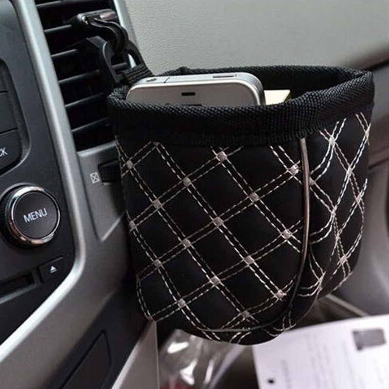 1Pcs Mobile Phone Bag Silver Edge Of The Outlet Pockets Pouch Storage Bag Auto Accessories Car Decoration 6z-za039(China (Mainland))