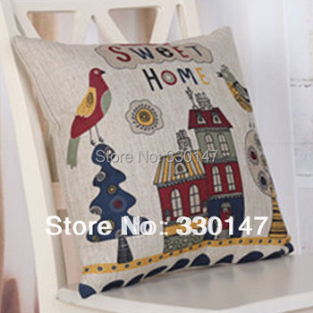 Vintage Linen Cotton Seet House Pillow Case Originality Throw Cushion Cover Home Sofa Decorative B.D