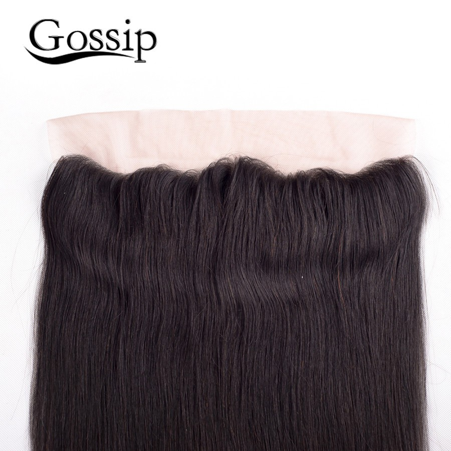13*4 Ear To Ear Lace Frontal Closure With Baby Hair 7A Brazilian Lace Frontal Closure Straight Virgin 100 Human Hair Extensions