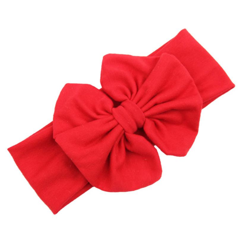 2015 Big Bowknot Baby Girls Cotton Headband Children Kids Head Wraps Accessories new fashion headwear free shipping(China (Mainland))