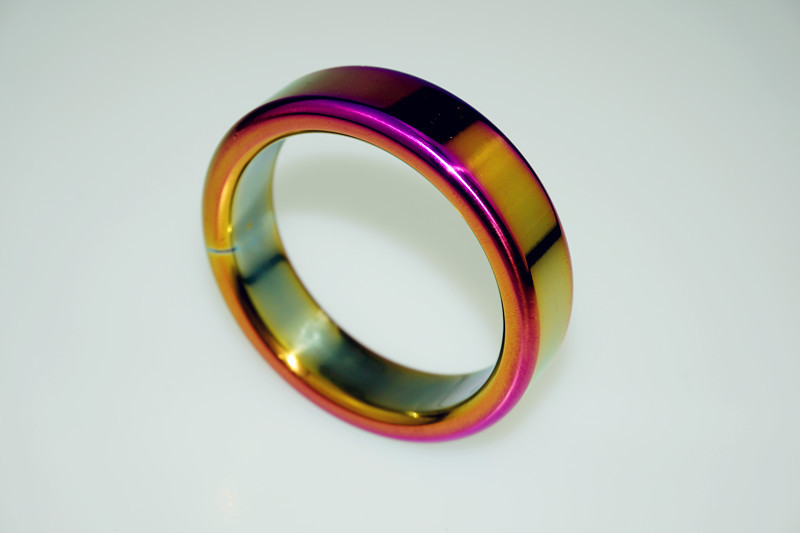 Dia 48mm 1.85,111g Sexy Slave HEAVY DUTY rainbow metal cock ring Stainless Steel penis ring sex toy<br><br>Aliexpress