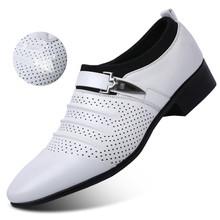 2020 летние сандалии мужская обувь роскошные Брендовые мужские туфли-оксфорды без шнуровки с острым носком кожаные мужские свадебные туфли И...(China)