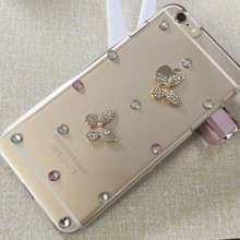 Romantic Crystal Diamond Hard Back 3D Bling Heart Rhinestone Phone Cases For iphone6 6s cover case