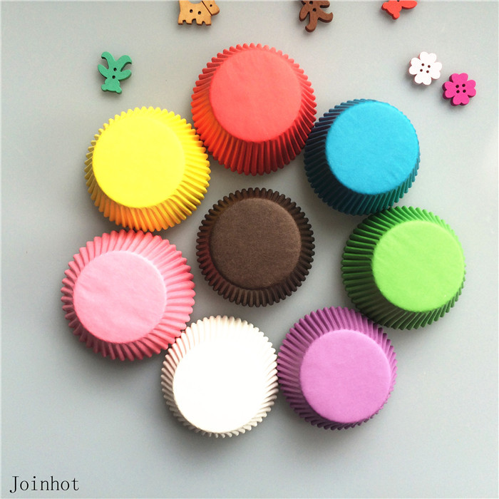 Promotion 100 pcs/lot Mix Color Paper Cupcake Liners Cupcake wrappers Muffin Cases Cake Cooking Cups(China (Mainland))