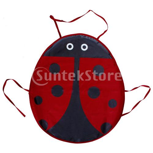 Red Ladybird Pattern Fabric Aprons For Children Craft Party Free Shipping(China (Mainland))