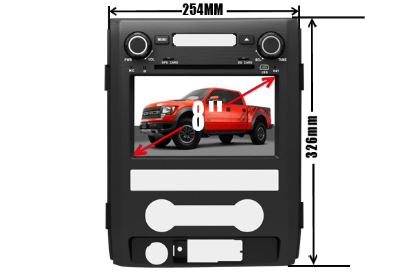 Wholesale!2 Din 8Inch Car DVD Player head unit stereo Fit FORD F150 2009 2010 2011 2012 2013 2014 With 3G USB GPS BT IPOD FM RDS(China (Mainland))