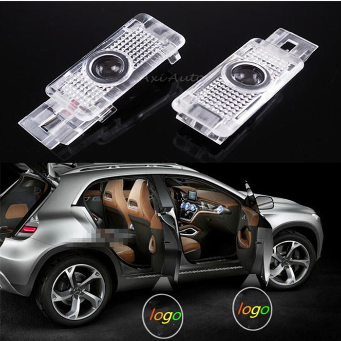 2 x LED door courtesy laser projector light Mercedes Benz W203 C Class SLK CLK SLR(China (Mainland))