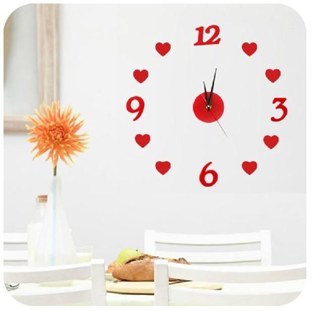 Home Home Creative DIY acrylic wall clock watch interesting personality living room decorative bell digital K1480(China (Mainland))