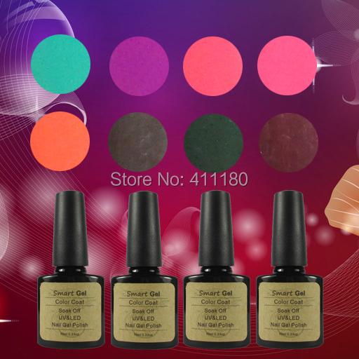 12Pcs Smart UV/LED Nail Gel Newest 343 Fashion UV Gel Polish 10 ML Soak Off Nail Gel Polish(China (Mainland))