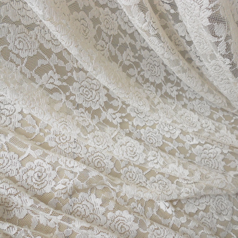 Buy rose lace fabric floral lace fabric for Wedding dress lace fabric