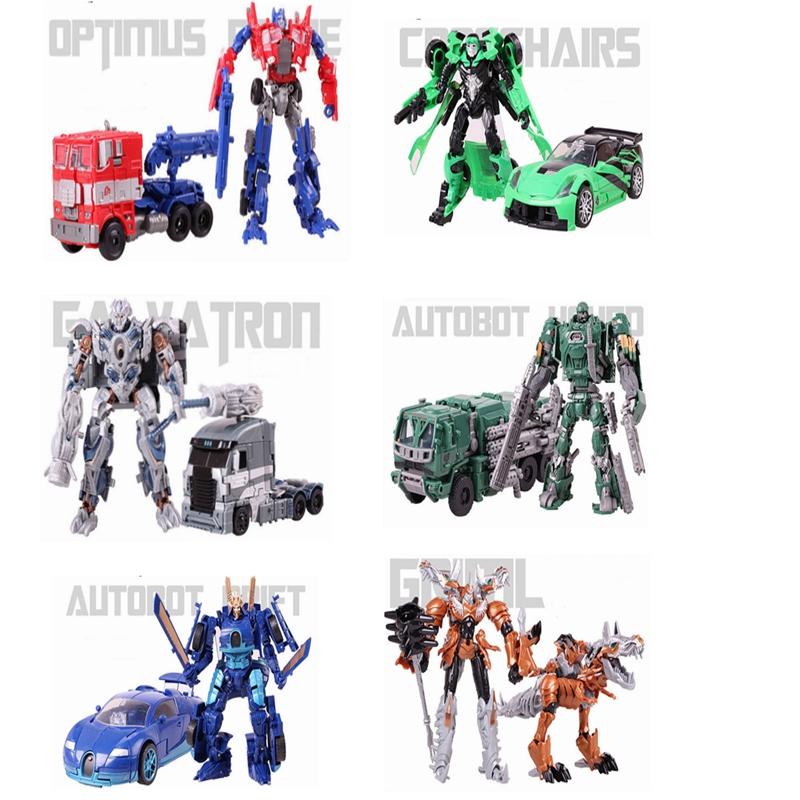 Аниме преобразование 4 игрушки робот автомобилей фигурку Optimus чп Galvatron собака дрейф перекрестье Brinquedos детей игрушки