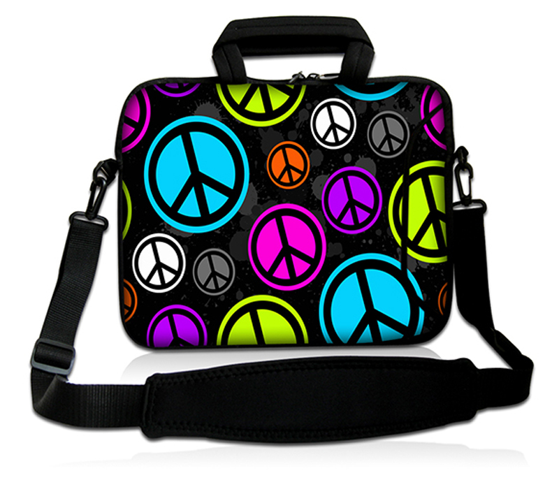 "Peace Sign 10"" Laptop Shoulder Sleeve Bag Case For 10.1"" Samsung Galaxy Note 10.1 Hotest Free Shipping(China (Mainland))"
