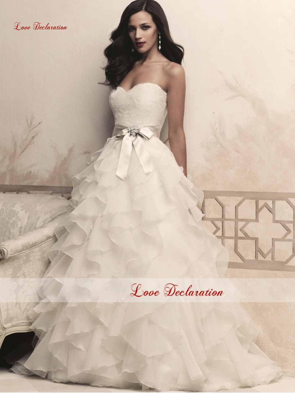 2015 Real Sample Photo Charming Lace Up Ruffles Sweetheart A Line Wedding Dresses Bridal Dress Vestido De Noiva Curto Plus Size(China (Mainland))