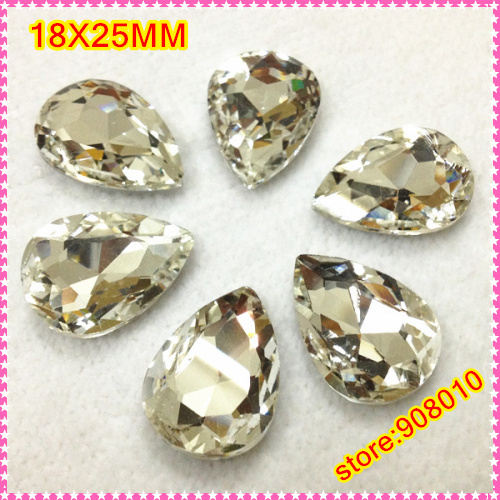 18x25mm droplet /waterdrop/teardrop pointback rhinestones crystal clear color for dress,DIY, Mini Order Is $15,(Can Mix Order<br><br>Aliexpress