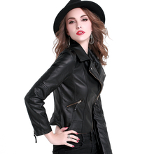 2017 Fashion Spring Autumn women Faux Leather jacket female coat short design slim PU leather jacket coat plus size S-XXL(China (Mainland))