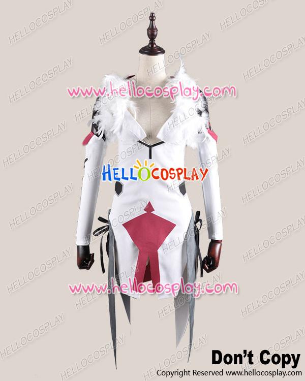 Guilty Crown Cosplay Inori Yuzuriha White Battle Dress Costume H008Одежда и ак�е��уары<br><br><br>Aliexpress