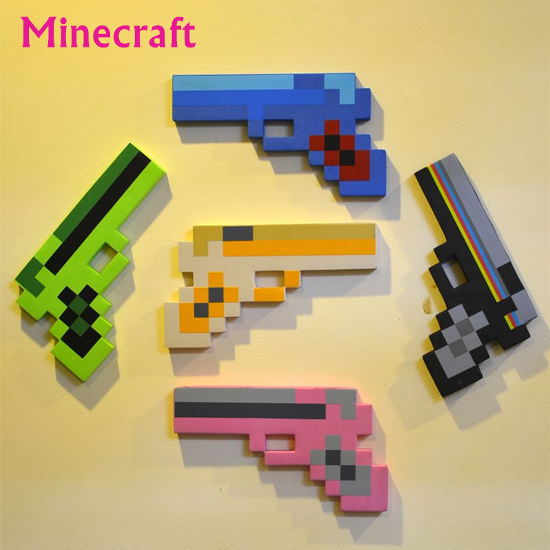 New 2015 Minecraft Toys Minecraft Sword Pickax Axe Shovel Gun EVA Toys Model Toys Gifts For Kids Brinquedos Birthday Gifts(China (Mainland))
