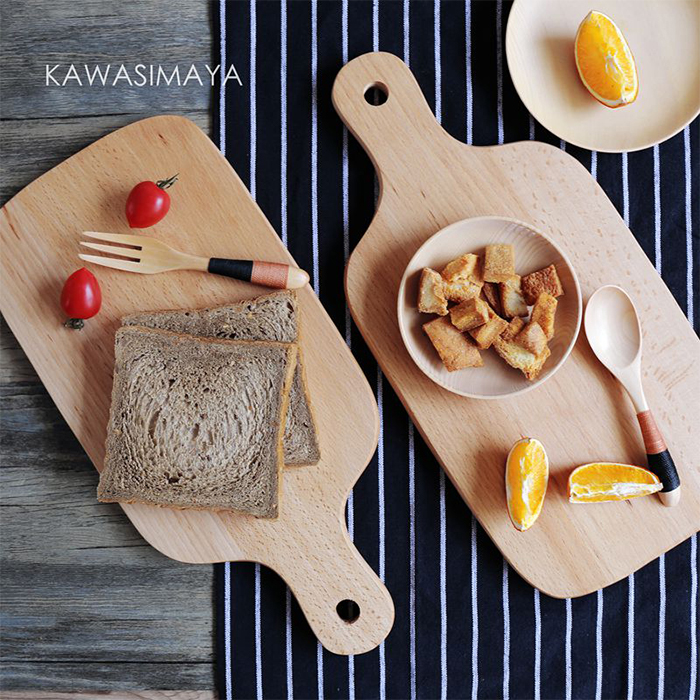 Japanese beech wood cutting board breadboard chopping creative Ganmian board kitchen baking supplies ZB-1