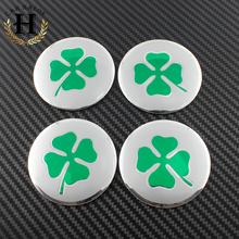 2016 Style 56.5mm 5.65cm new ALFA ROMEO GT quatrefoil green Badge Decal Fit CAR Tyre Wheel Center Hub Cap Sticker emblem - Carbeer Co Ltd Store store