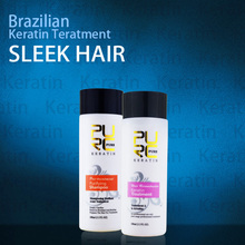 PURE Brazilian keratin hair treatment  100ml keratin hair straightening treatment hot sale keratin smoothing free shipping(China (Mainland))