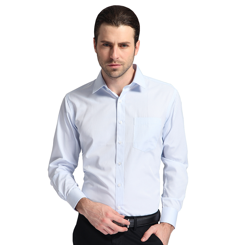 Buy autumn 2016 mens long sleeve blue for Where to buy casual dress shirts