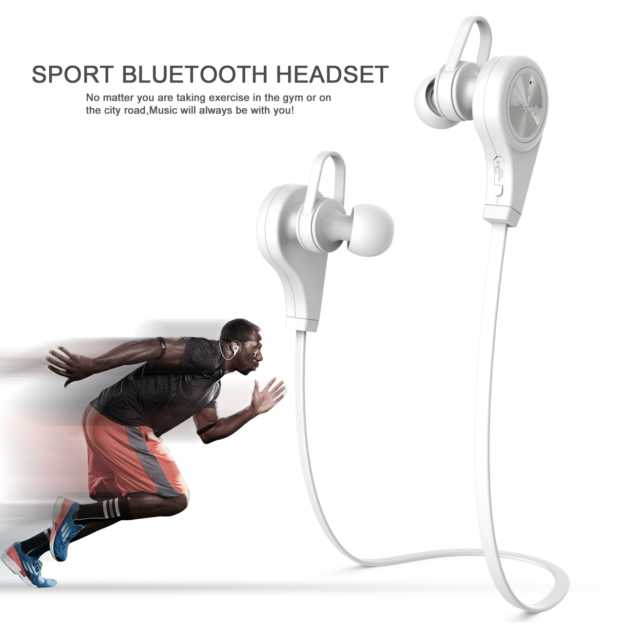 Bluetooth Earphone Headphone Q9 Microphone Stereo Wireless Sports Headset Bluetooth 4.1 for Xiaomi Iphone smart watch A1 DZ09(China (Mainland))