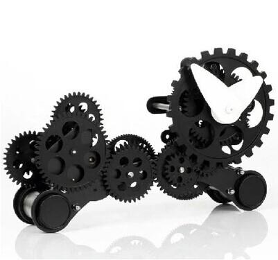 Puppy dog gear mechanical clock living room European-style metal decorative clocks(China (Mainland))