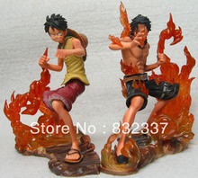 Japanese Anime Figures t DX Brotherhood Luffy+Ace One Piece Action Figures PVC Free Shipping