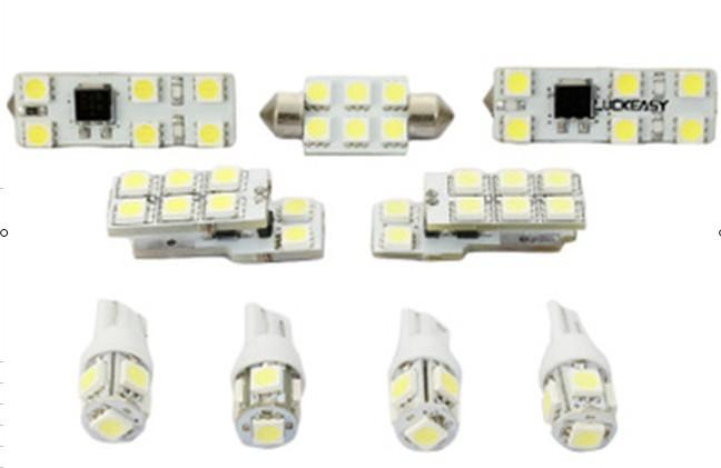 Luckeasy резервного копирования lightsfor audi a4l 2012 9 шт./компл. купола автомобиля из светодиодов чтение свет