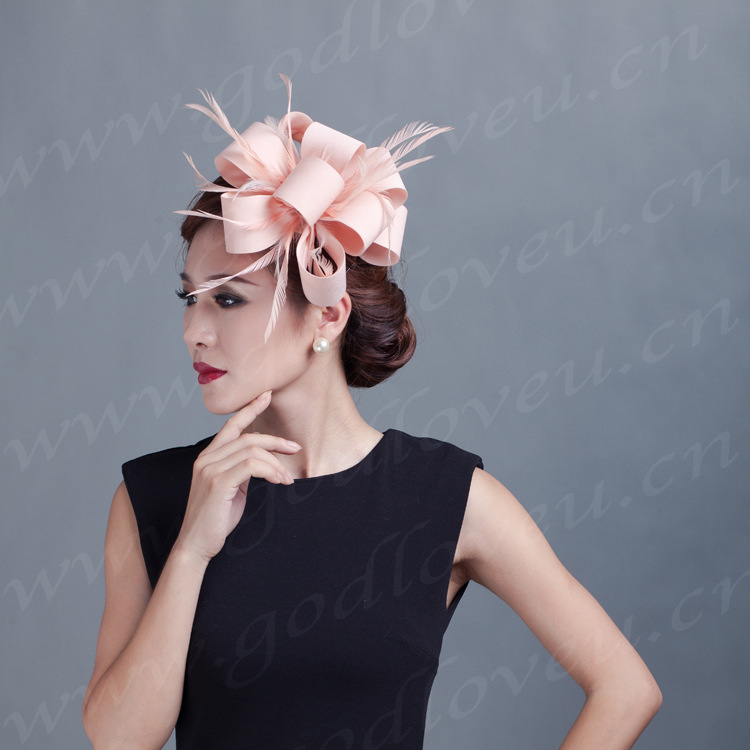 2015 Ladies sinamay hat handmade headband party fascinator/felt fascinator/sinamay fascinator hair Lady party wedding headwear(China (Mainland))