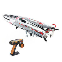 "Buy G30H Fiber Glass 54"" 30CC Engine Gas RC Racing Speed Boat W/Remote Controller ARTR Grey for $745.00 in AliExpress store"