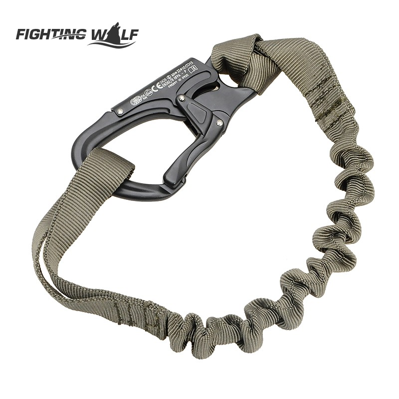 Outdoor Flexible Safety Lanyard Rope Quick Release Tactical Protective Sling Safety Line Climbing Rope For Outdoor Activities(China (Mainland))