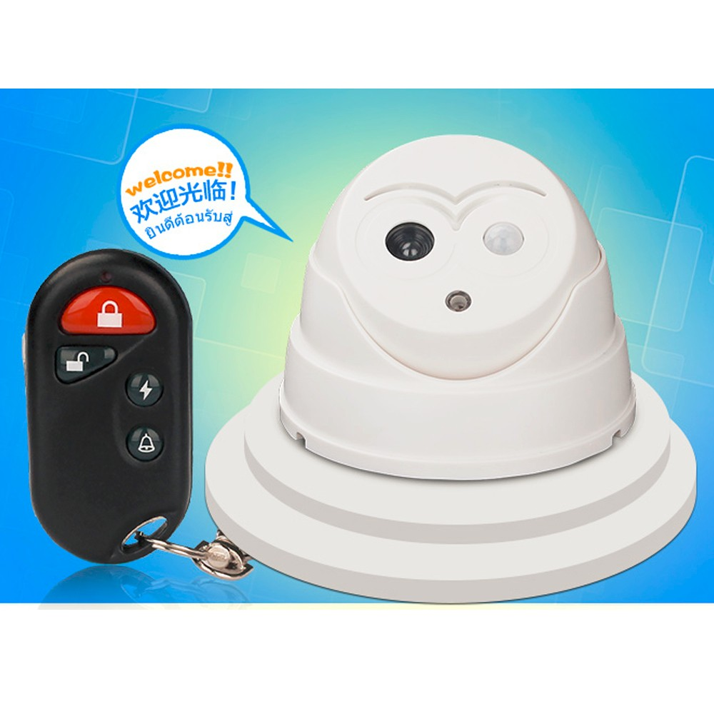 Welcome Alarm Wireless Door Bell PIR Detector with Remote controller Infrared Motion Sensors Home Security Dummy Camera hot sell(China (Mainland))