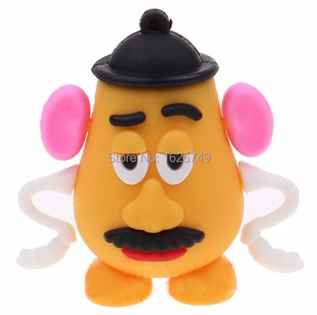 Hot sale 100% real capacity cute Mr. Potato Head 3 model Pen Drive 1GB-32GB Usb Flash Drive Pendrive memory stick Free Shipping(China (Mainland))