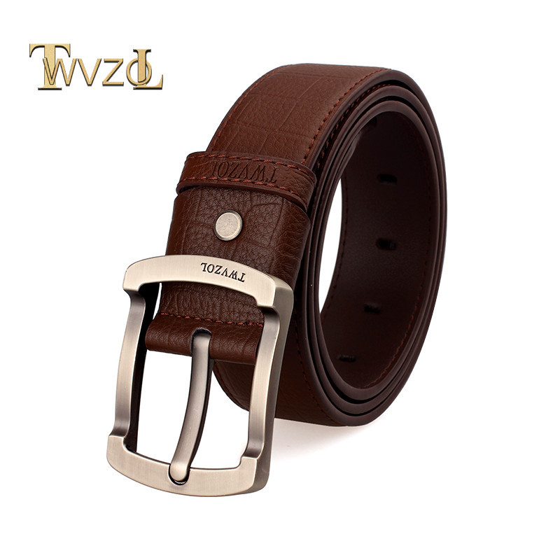 2015 New Jeans Belt Famous Casual Solid Brand Men Belts Cowskin Genuine Leather Pin Buckle Belt For Men's Free Shipping(China (Mainland))